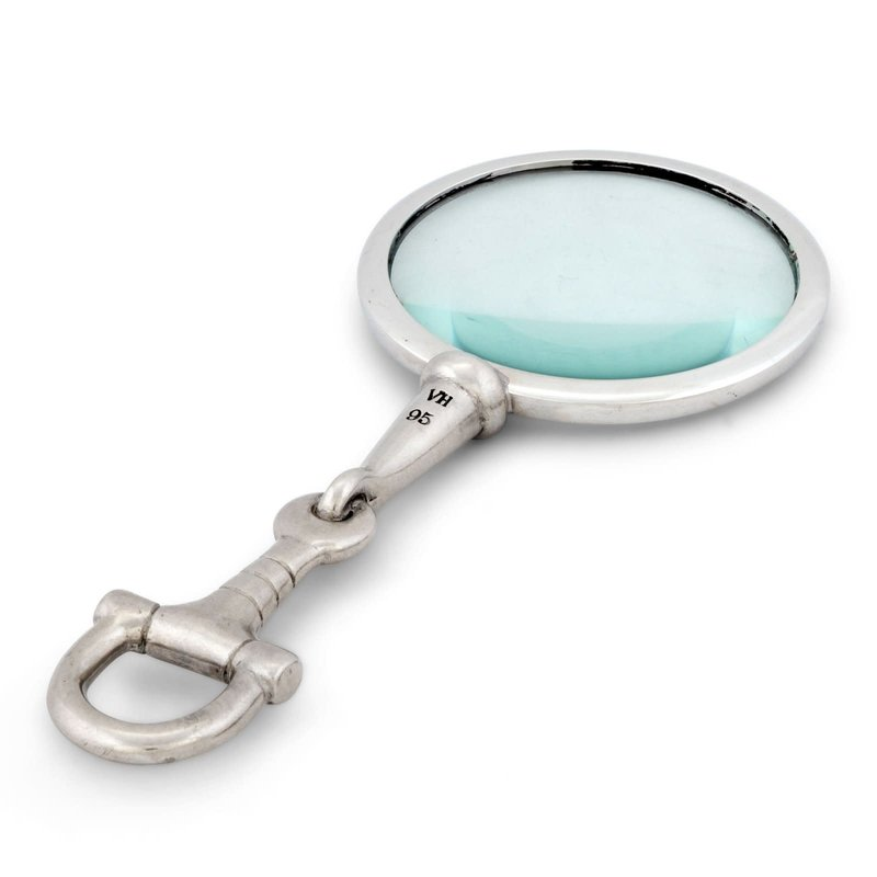 MH Magnifier - Equestrian  Bit - Pewter