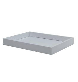"Tray - Lacquered - Vanity - White - Small - 11"" x 8"""