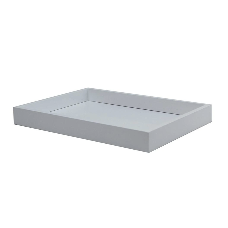 """Addison Ross LTD Tray - Lacquered - Vanity - White - Small - 11"""" x 8"""""""