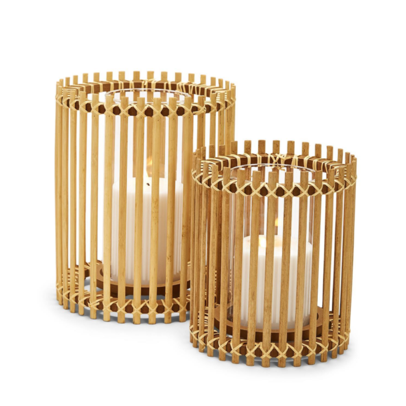 Two's Company Vase - Hand-Crafted Bamboo Bars -