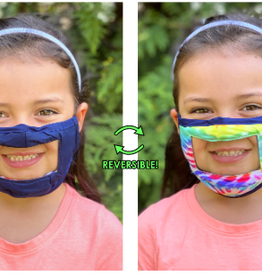 Face Mask - Smile - Anti-Fog Clear Panel - KIDS