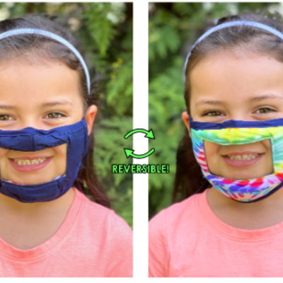 Face Mask - Smile - Anti-Fog Clear Panel - KIDS
