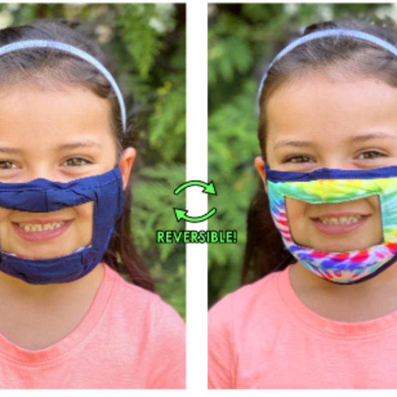 Living Royal Face Mask - Smile - Anti-Fog Clear Panel - KIDS