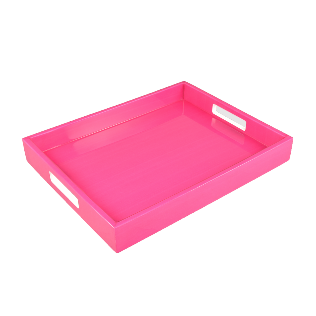Pacific Connections Tray - Lacquered - Reicko - Hot Pink