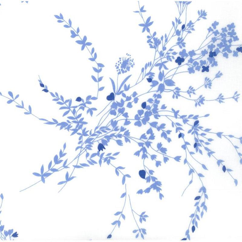 D. Porthault Jete de Fleurs - Blue - Percale - Bedding -  Neckroll