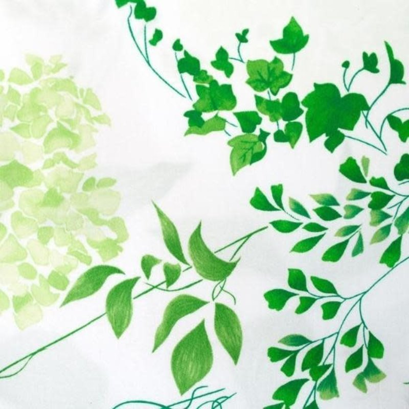 D. Porthault Mariage - Green - White Scallop - Neckroll
