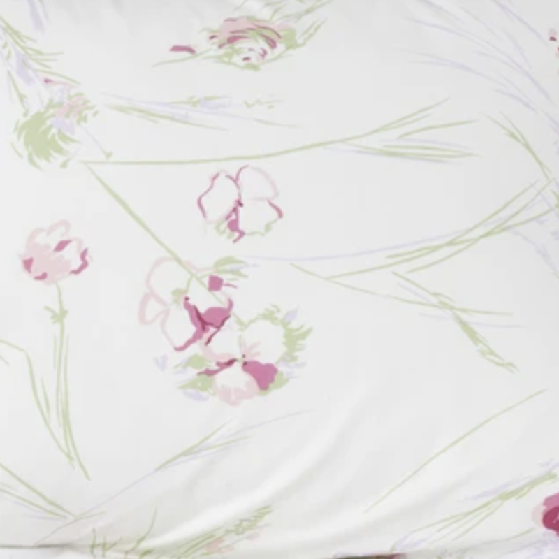 D. Porthault Oustau - Pink/Lilac/Green - White Scallop - Neckroll