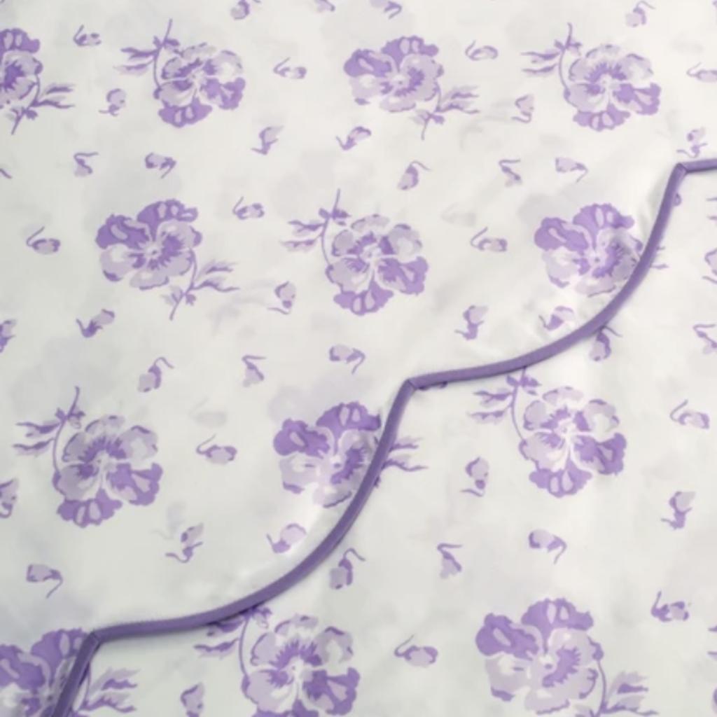 D. Porthault Pensees - Lilac - Neckroll
