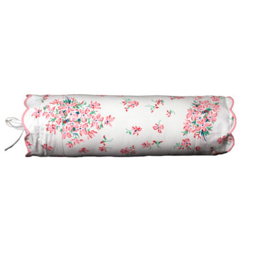 D. Porthault Violettes - Pink - Pink Scallop - Bedding -  Sham - Neckroll