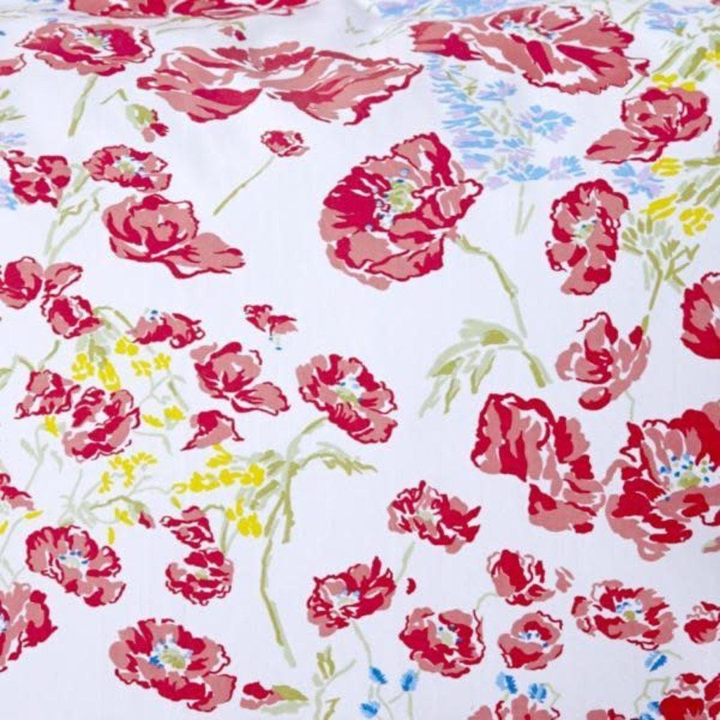 Coquelicots - Red - White Scallop - Bedding -  Sham - Neckroll