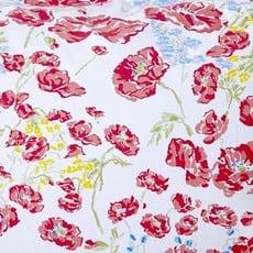 D. Porthault Coquelicots - Red - White Scallop - Bedding -  Sham - Neckroll