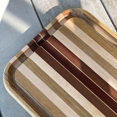 STRIPED WOOD BOARD