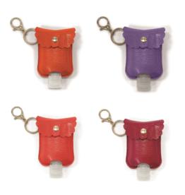 Sanitizer Bottle - Refillable w/Clip-on Carrying Case - 2 oz. - Asstd Colors
