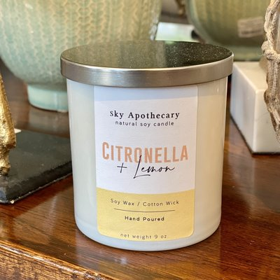 Candle - Soy -  Citronella & Lemon - 9 oz.