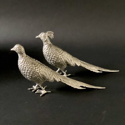 Statuettes - Pheasants Set - Pewter