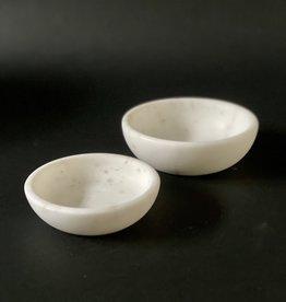 Bowl - White Marble - S/2
