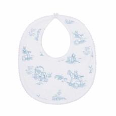 Nella Pima Baby Bib - Toile - Blue