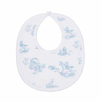 Baby Bib - Toile - Blue
