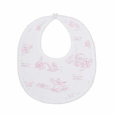 Nella Pima Baby Bib - Toile - Pink
