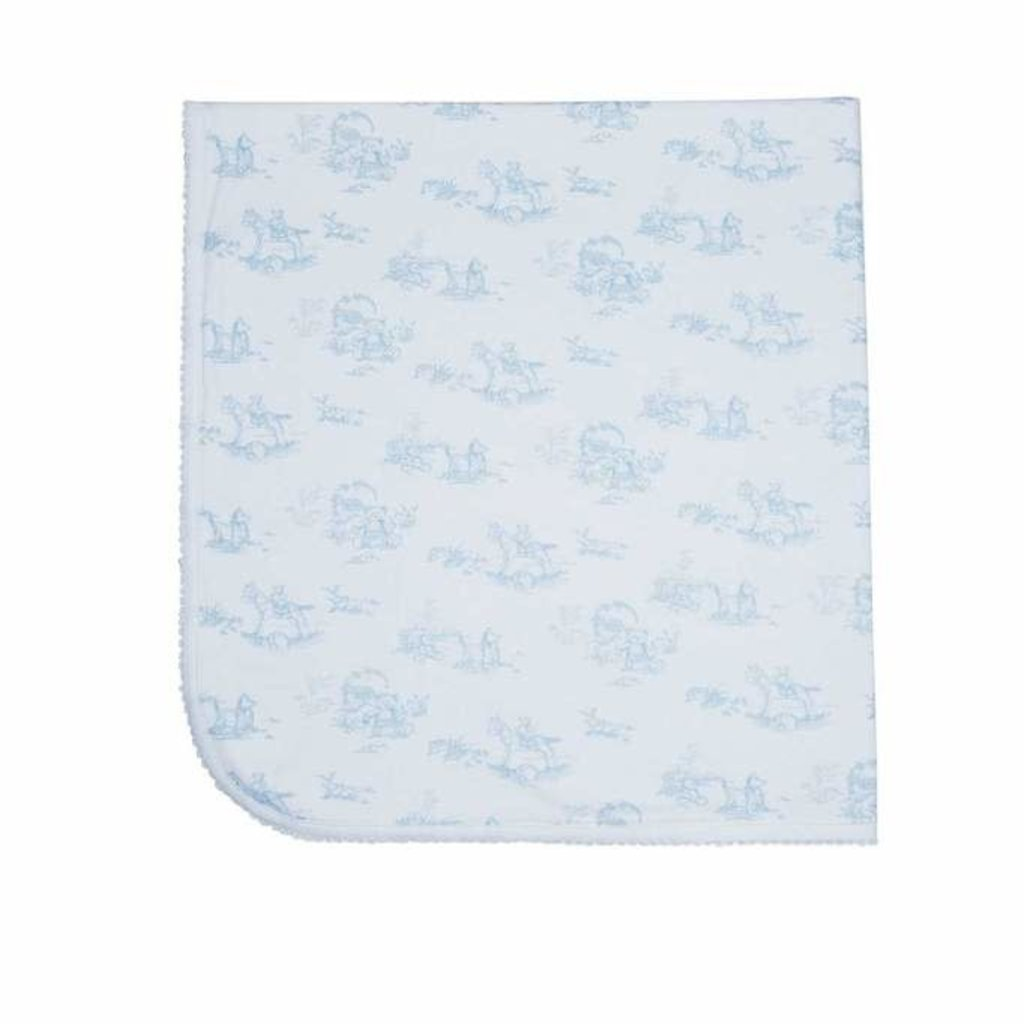 MH Baby Blanket - Toile - Blue