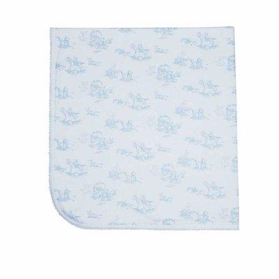 Baby Blanket - Toile - Blue