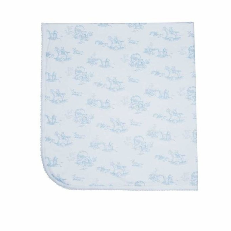 Nella Pima Baby Blanket - Toile - Blue