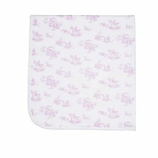 Baby Blanket - Toile - Pink