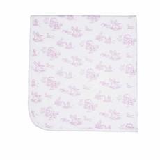 Nella Pima Baby Blanket - Toile - Pink