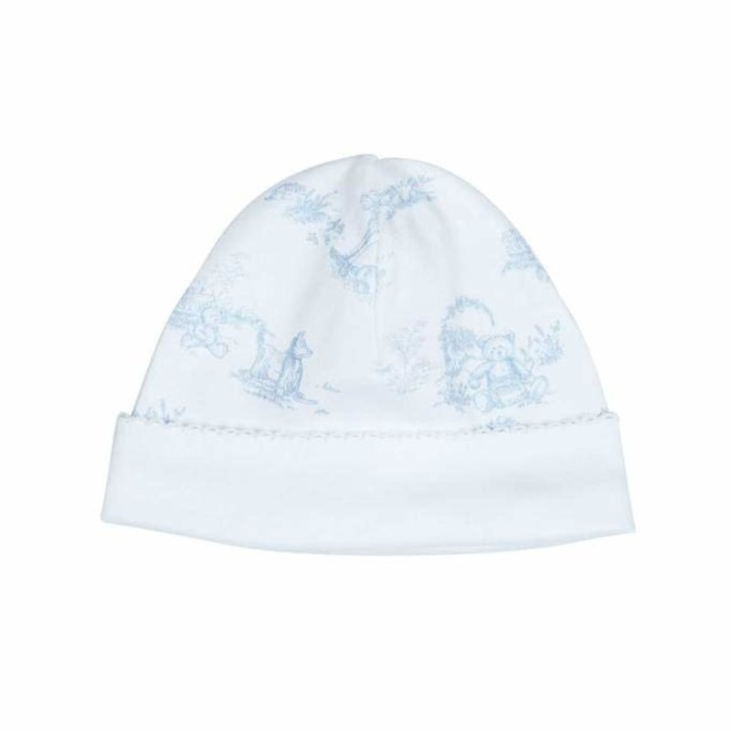 Nella Pima Baby Hat - Toile - Blue