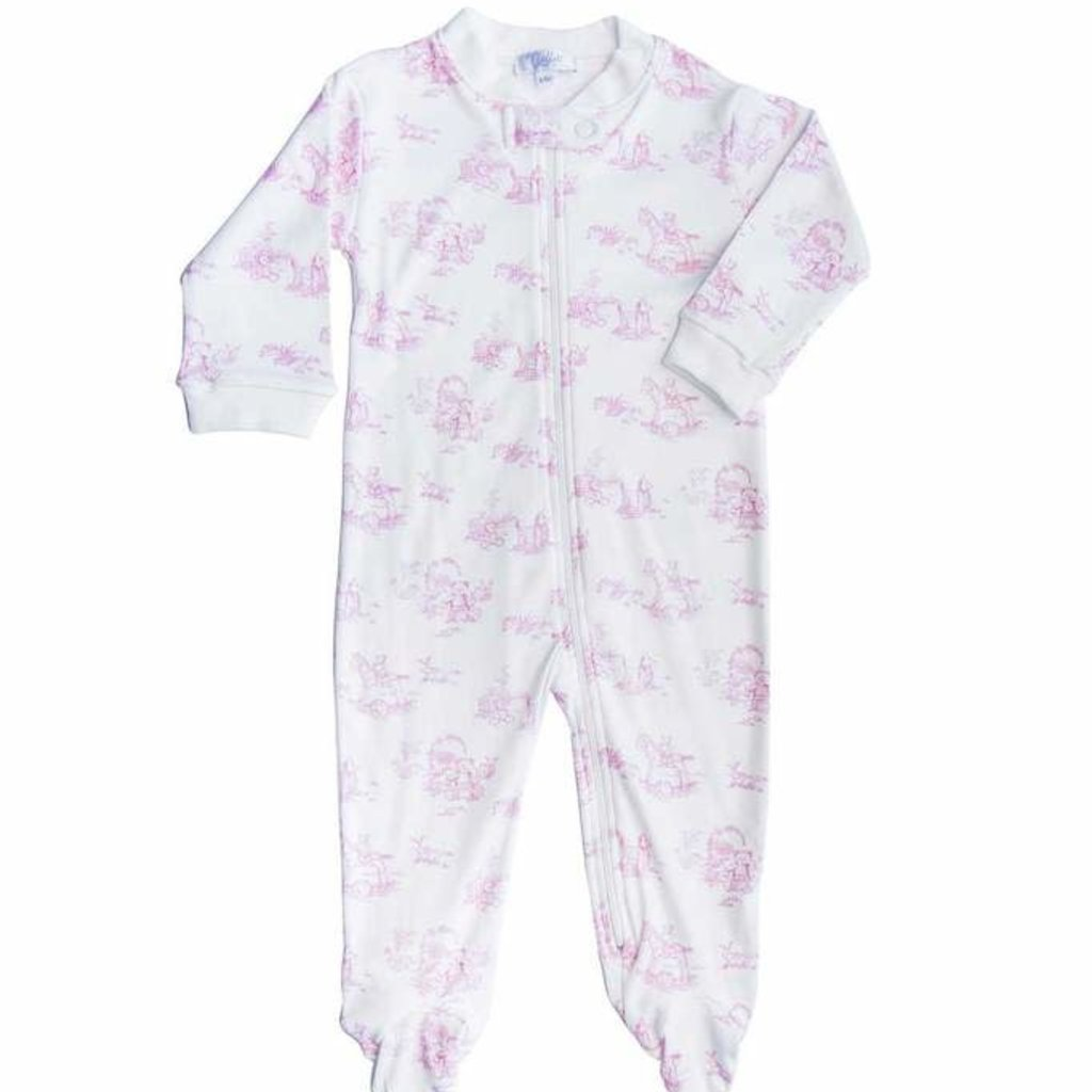 Toile - Girl  - Zipper Footie -