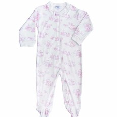 MH Toile - Girl  - Zipper Footie -