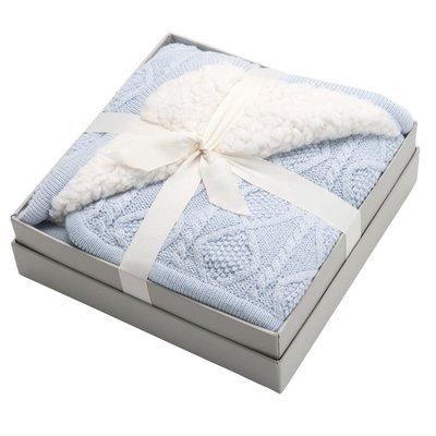 "Baby - Blanket - Fur Back w/ Lattice Knit - 30""x40"" -"