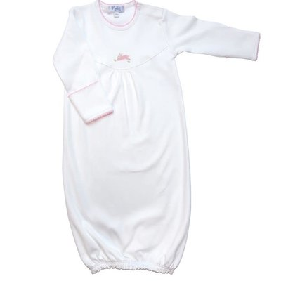 Baby Gown - Pink Bunny - 3-6M