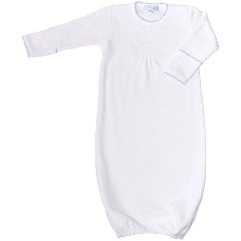 Nella Pima Baby Gown - White Bubble -