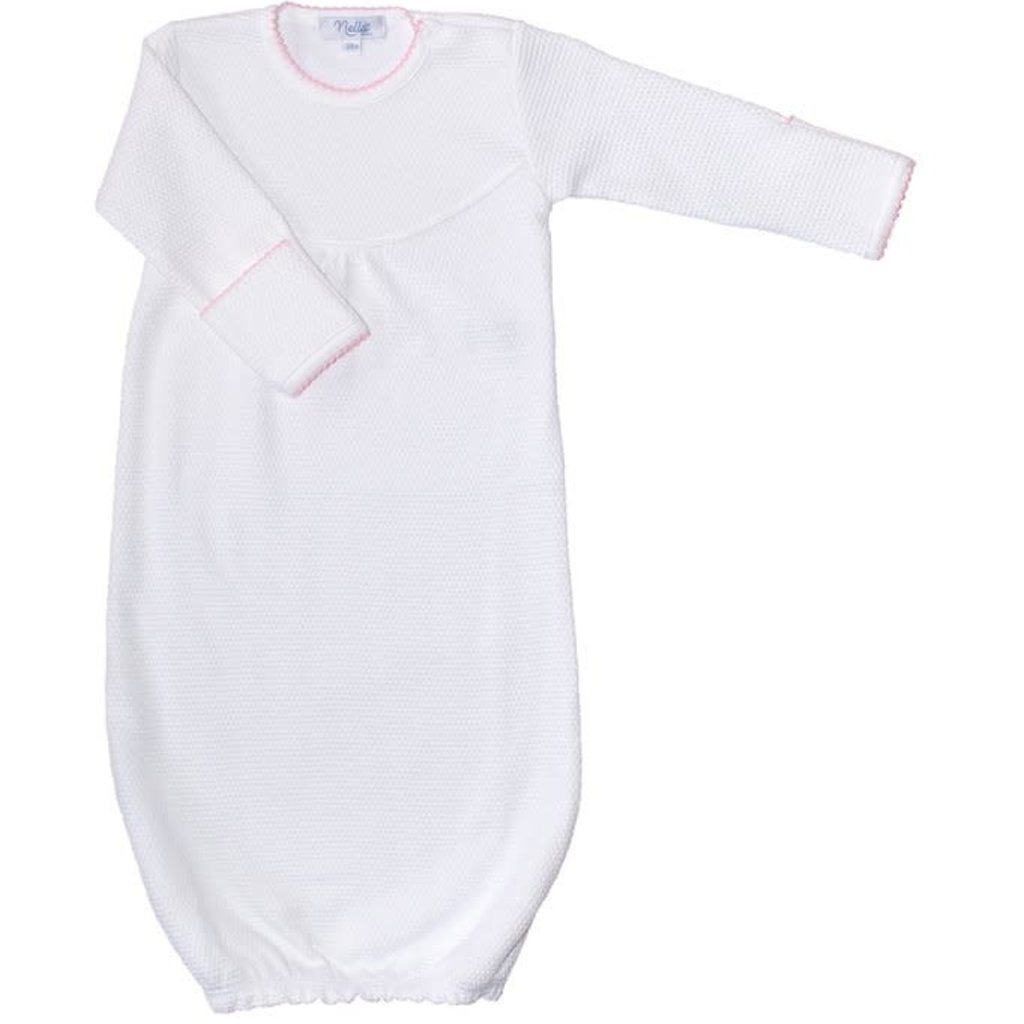 Baby Gown - White Bubble -
