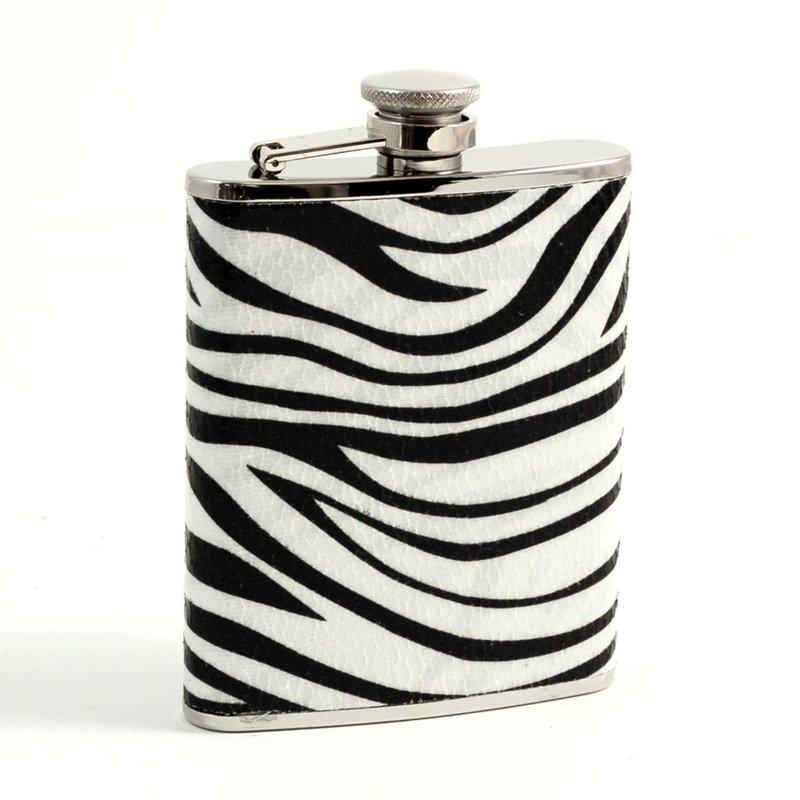 Bey-Berk International Flask - Zebra Pattern