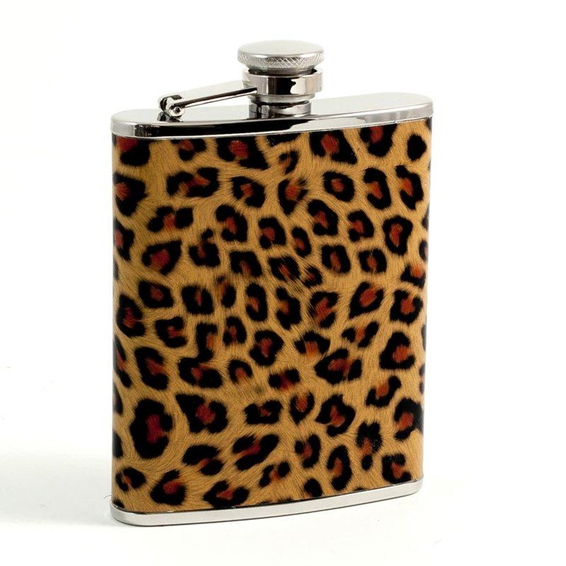Bey-Berk International Flask - Leopard Pattern