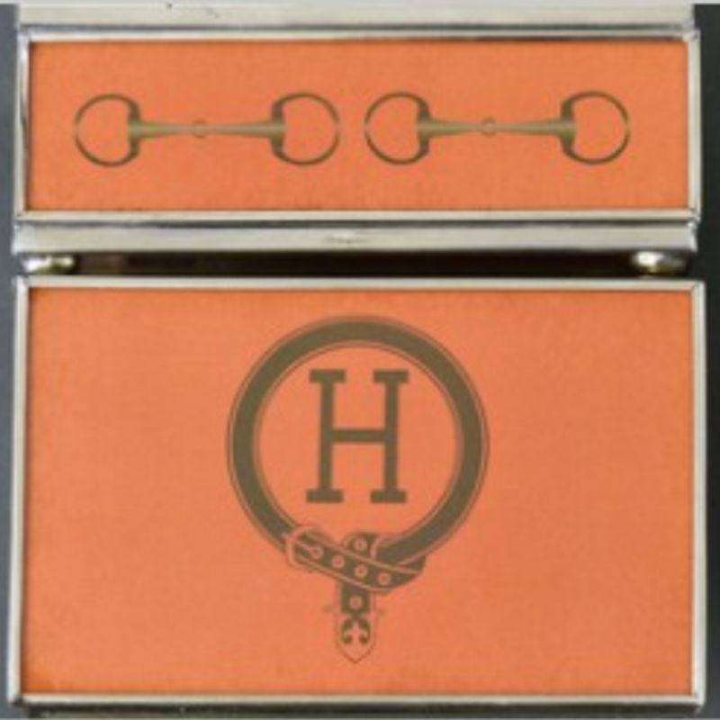 Matchbox Cover -  H Monogram