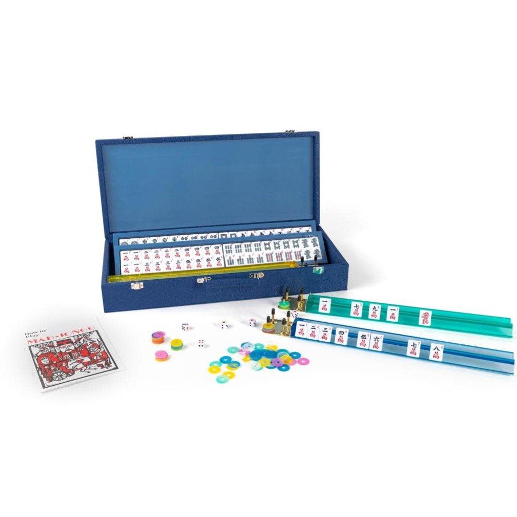 Mahjong Set - Blue Onyx
