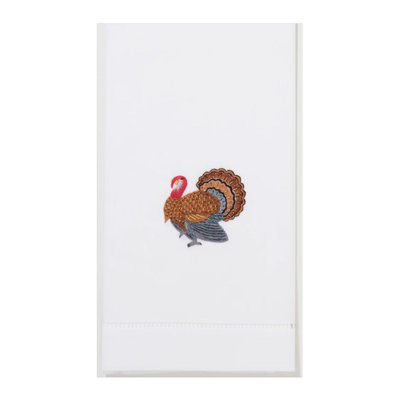 Hand Towel - Turkey Gold - White Cotton