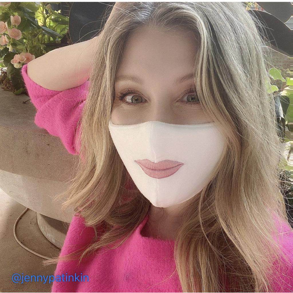 MH Face Mask - Jenny Patinkin - Dye-Free Organic Bamboo - Lips - Mauve