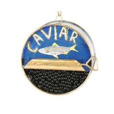 Ornament - Blown Glass - Caviar