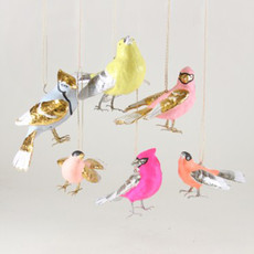 Ornament - Blown Glass - Colorful Songbirds - Assorted