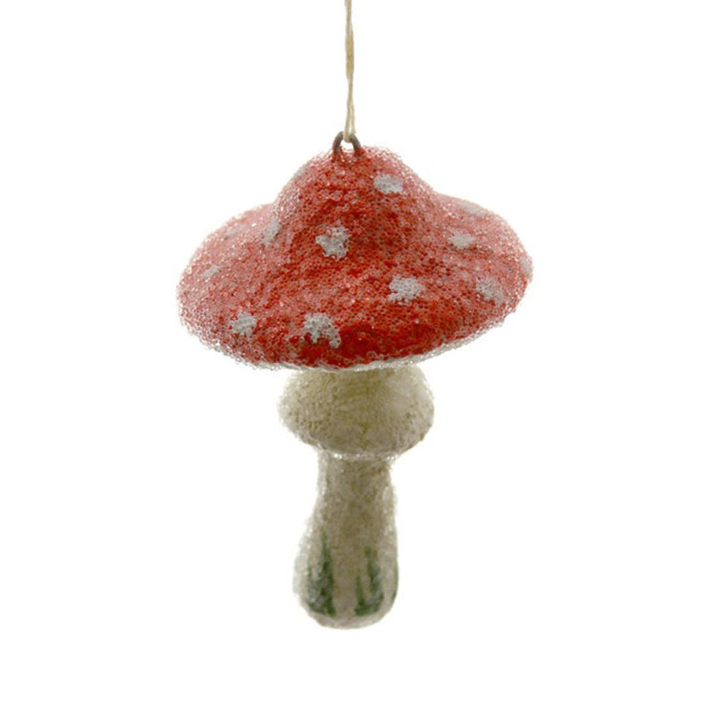 Ornament - Blown Glass - Cottage Mushroom