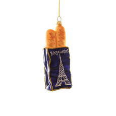 Ornament - Blown Glass - French Baguette