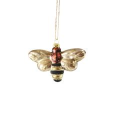 Ornament - Blown Glass - Honey Bee