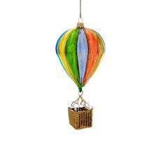 Ornament - Blown Glass - Hot Air Balloon Bright