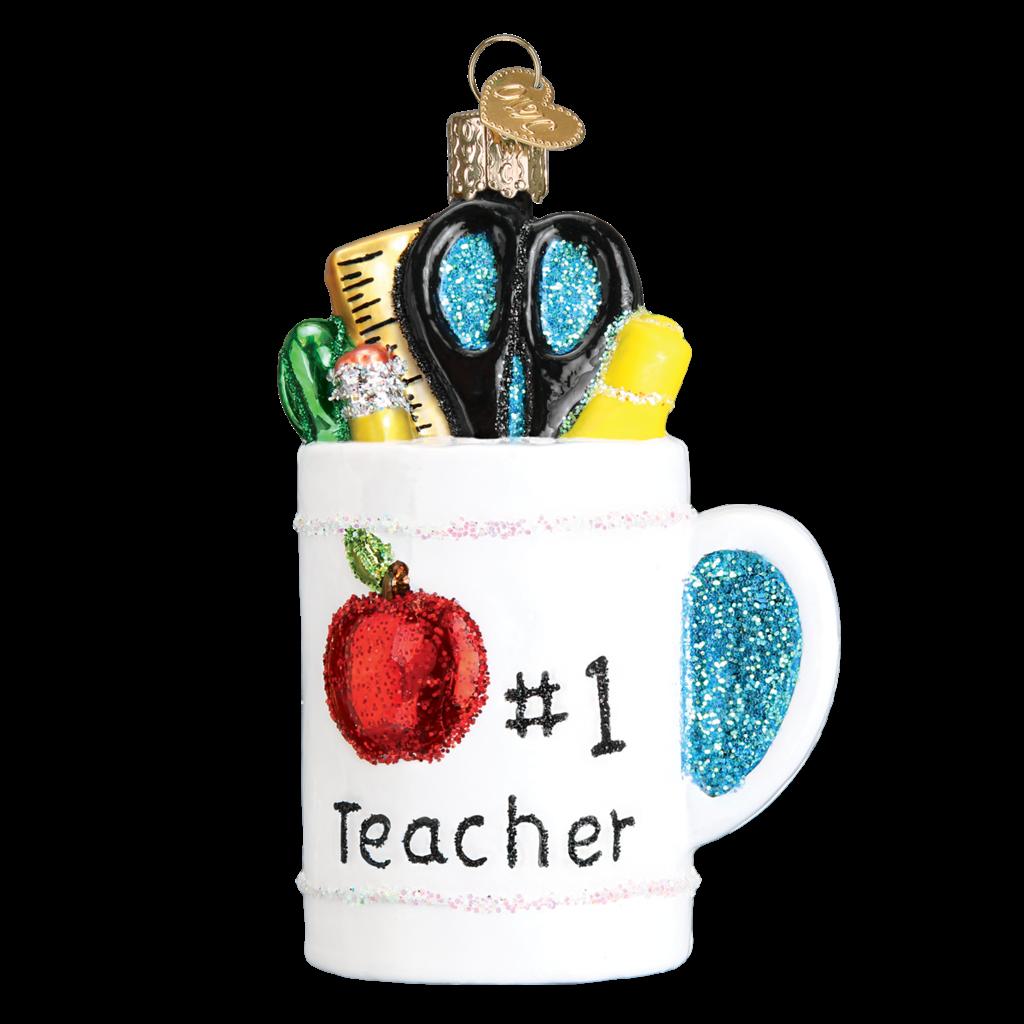 Ornament - Blown Glass - Best Teacher Mug