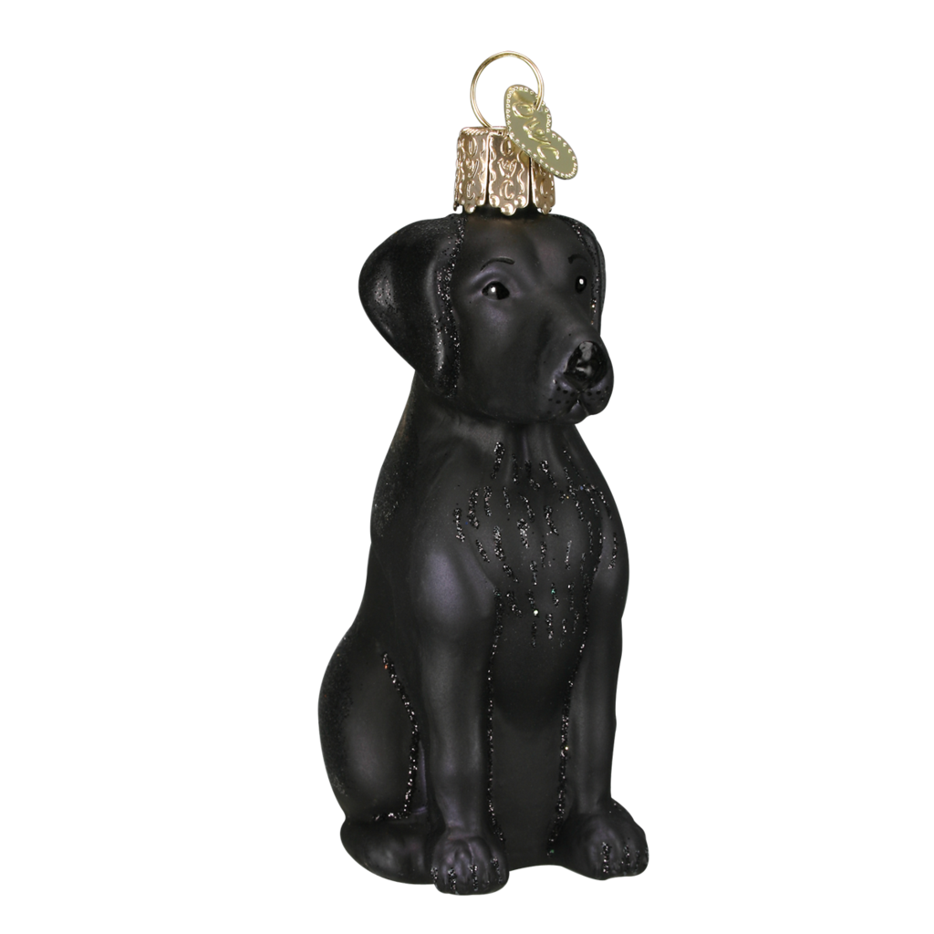 Ornament - Blown Glass - Black Labrador