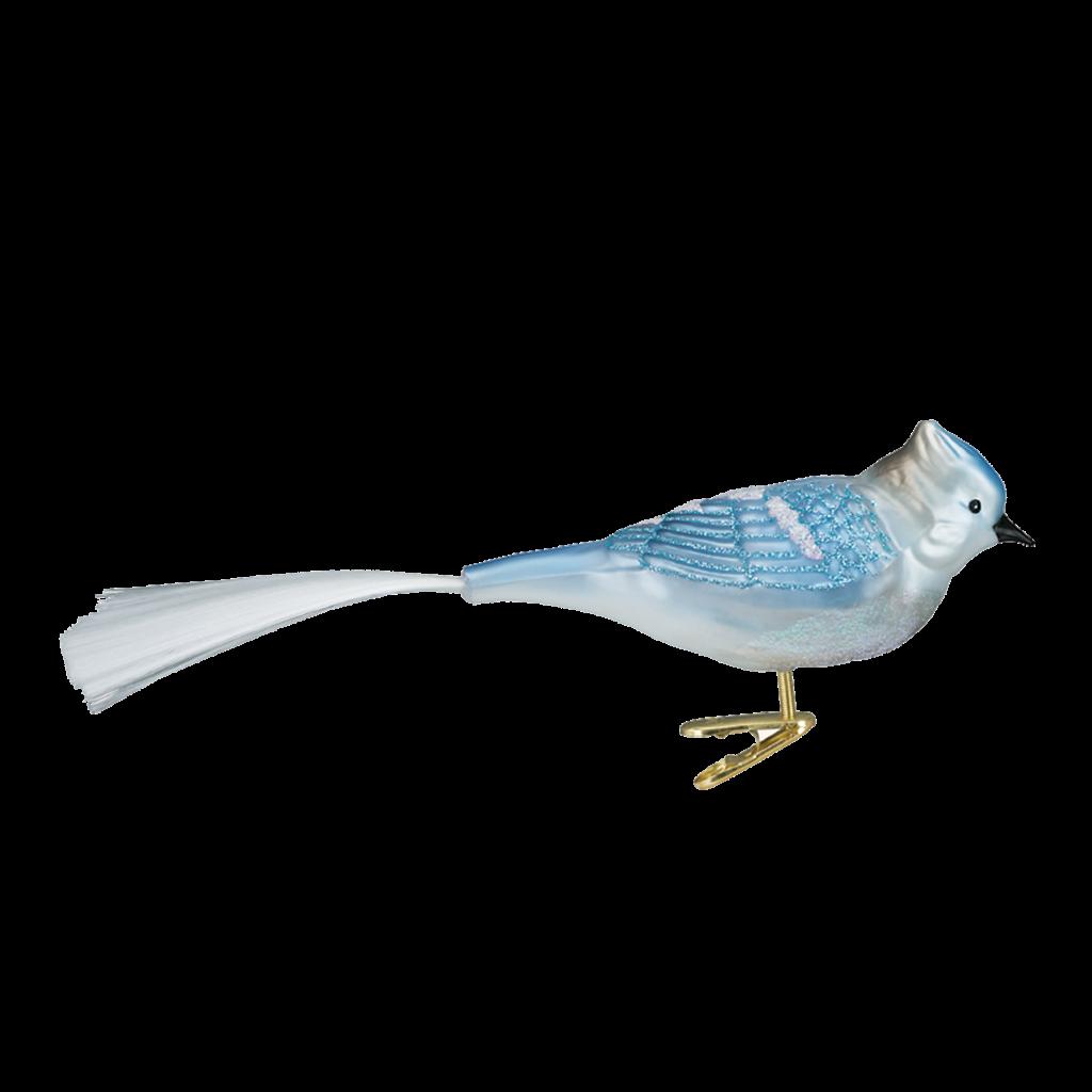 Ornament - Blown Glass - Blue Jay